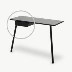 Schreibtischschublade Georg | Schwarz
