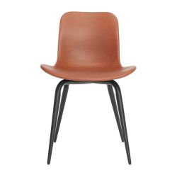 Langue Avantgarde Dining Chair Black - Premium Leather | Brandy