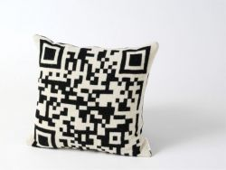 Bar-code 2D Cushion Black