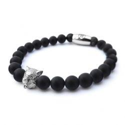 B' Wolf Bracelet | Black