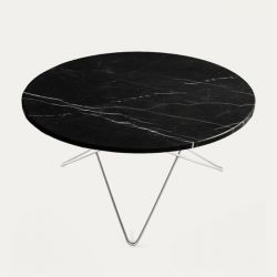 O Table | Black Marble/Stainless Steel