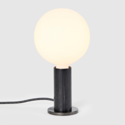 Table Lamp Knuckle with Sphere XL Bulb | Blackened Oak