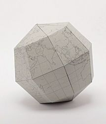 Blank Sectional Globe | Grey