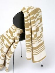 Bar-code 2D Blanket Light Brown