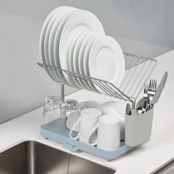 2-tier Dish Drainer Y-Rack | Blue