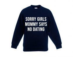 Kinder-Pullover Mama sagt: Keine Verabredung | Blau