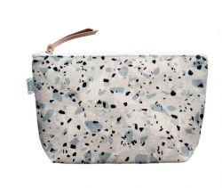 Cosmetic Bag | Terrazzo Blue Grey I