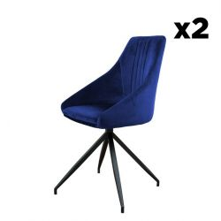 Swivel Chair Martha | Blue - Set of 2