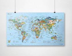 Bucketlist Map | Wiederbeschreibbar