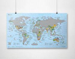 Scratch-Weltkarte | Bucketlist