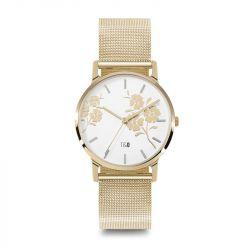 Frauen-Uhr Bloom 34 Mesh | Silber/Weiß