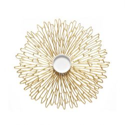 Napperon Rond en Vinyle Bloom | Gilded