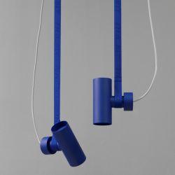 Deckenlampe BLT 4 | Blau mit Blaue Gurt