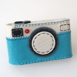Camera Case Holder Blue