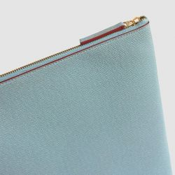Laptop Case | Light Blue & Burgundy