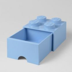 LEGO Brick Drawer 4 Knobs (1 Drawer) | Light Royal Blue
