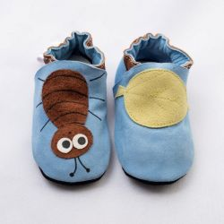 Blue Little Beetle Softsole Shoes