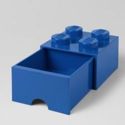 LEGO Brick Drawer 4 Knobs (1 Drawer) | Blue