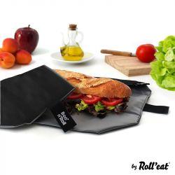 Wiederverwendbarer Sandwich-Wrap Boc'n'Roll Quadrat | Schwarz