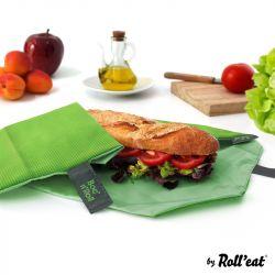 Wiederverwendbare Sandwichverpackung Boc'n'Roll-Platz | Grün