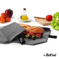Wiederverwendbare Sandwichverpackung Boc'n'Roll Eco | Schwarz
