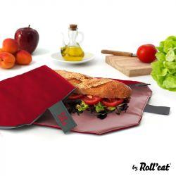 Wiederverwendbare Sandwichverpackung Boc'n'Roll Quadrat | Rot