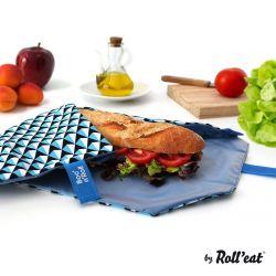 Wiederverwendbare Boc'n'Roll-Sandwichfolie | Blau