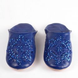 Women's Babouche Slippers | Cobalt