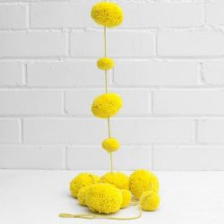 Pom Pom Garland | Acid Yellow