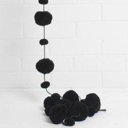 Pom Pom Garland | Black