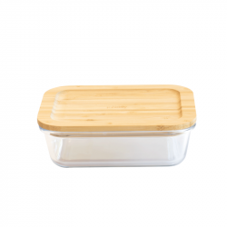Lebensmittel-Lagerbehälter mit Bambus | Rechteckig