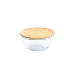 Lebensmittel-Lagerbehälter mit Bambus | Rund