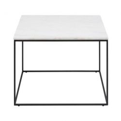 Balto Table d'Appoint 60 x 60 | Blanc Marbre