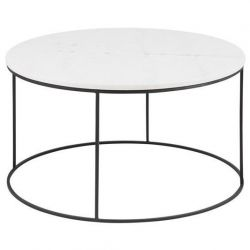 Balto Table d'Appoint Ø 80 | Blanc Marbre