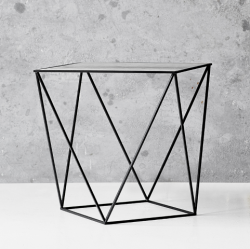 Trigona Side Table | Black & Grey