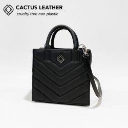 Box Tasche - Kaktusleder Stiche | Schwarz