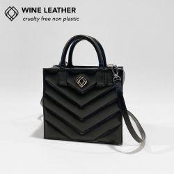 Box Tasche - Weinleder Stiche | Schwarz