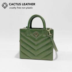 Box Tasche - Kaktusleder Stiche | Kaktusgrün
