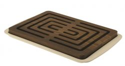 Bread Cutting Board Vitto | Dark Wood