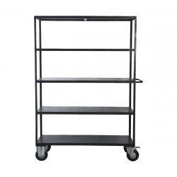 Shelving Unit 4 Wheels 175 cm | Black