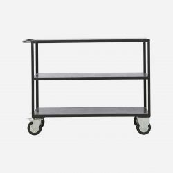 Shelving Unit With 4 Wheels | Black