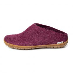 Filz-Slipper-Gummisohle | Cranberry