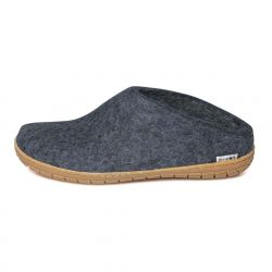 Filz-Slip-on-Gummisohle | Denim