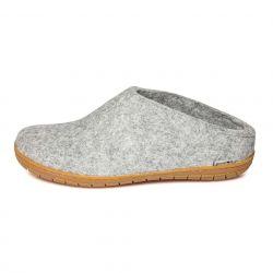 Filz-Slipper-Gummisohle | Grau