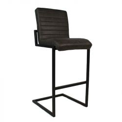 Tabouret de Bar Ballard Leather | Anthracite