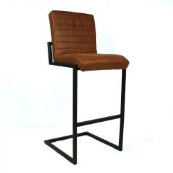 Tabouret de Bar Ballard Leather | Cognac