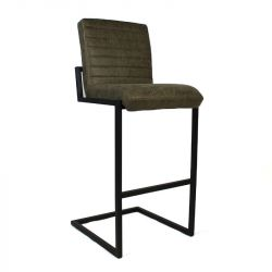 Tabouret de Bar Ballard Leather | Olive