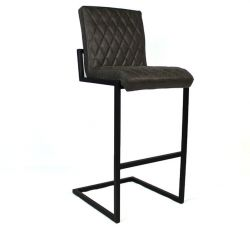 Bar Stool Fayette Leather | Anthracite