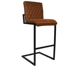 Bar Stool Fayette Leather | Cognac