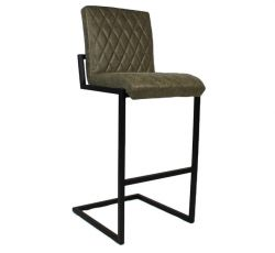 Bar Stool Fayette Leather | Olive
